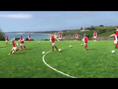 Day 1 of the fantastic Arsenal Soccer School at Waterside Holiday Park & Spa