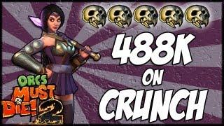 Orcs Must Die 2 - 5 Skull Nightmare Sorceress Guide - Crunch (488,000 points)