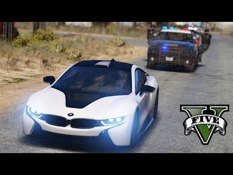 GTA V : FUGA ÉPICA DA POLICIA DE BMW I8 : GTA 5 MODS thumbnail
