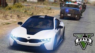 GTA V : FUGA ÉPICA DA POLICIA DE BMW I8 : GTA 5 MODS