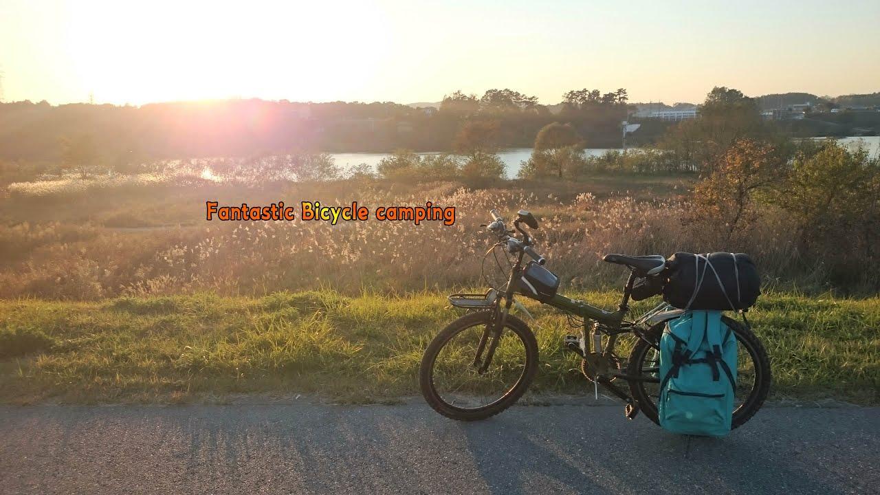 [캠핑]자전거캠핑 l 드론 ㅣ노랑노랑 은행나무 강천섬 l 판타스틱