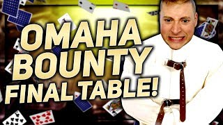 THE CRAZIEST FORM OF POKER...OMAHA BOUNTY FINAL TABLE!!! | PokerStaples Stream Highlights