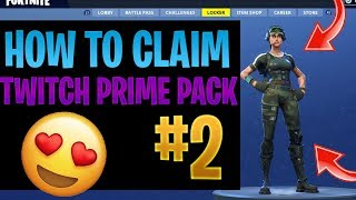HOW TO CLAIM TWITCH PRIME PACK #2- FREE SKINS IN FORTNITE BATTLE ROYALE