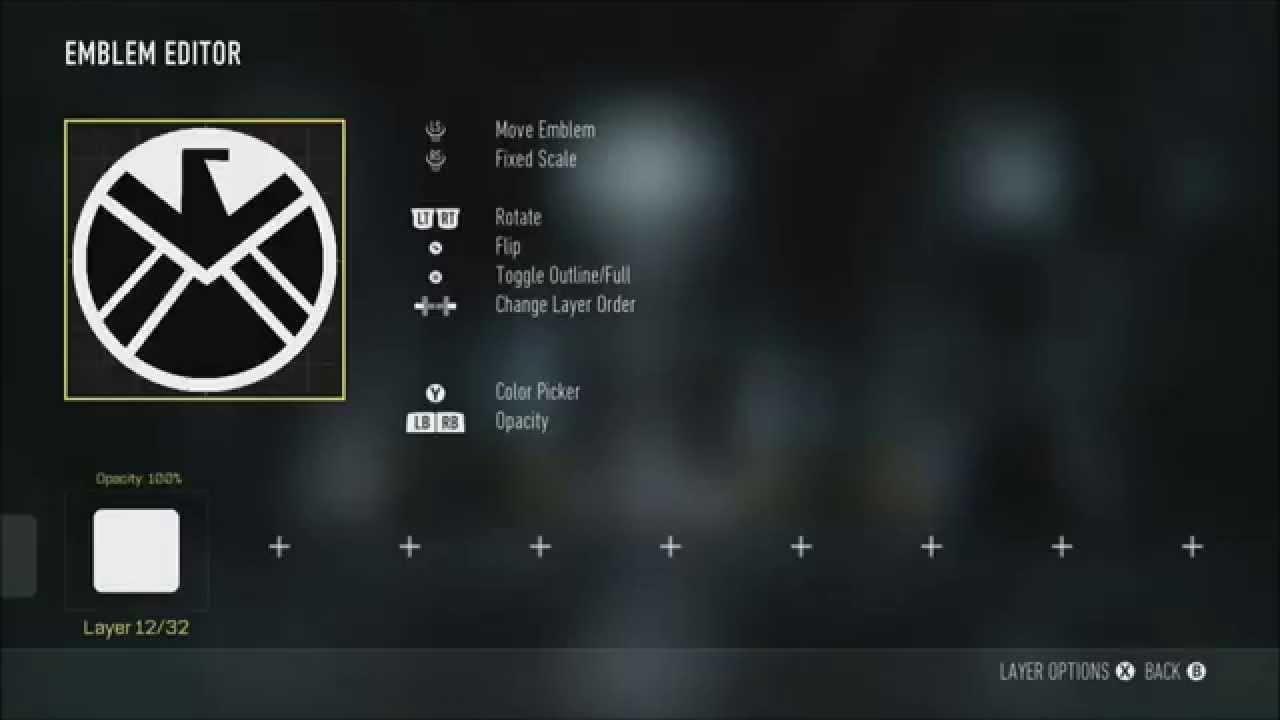Agents Of Shield Emblem Tutorial Call Of Duty Advanced Warfare