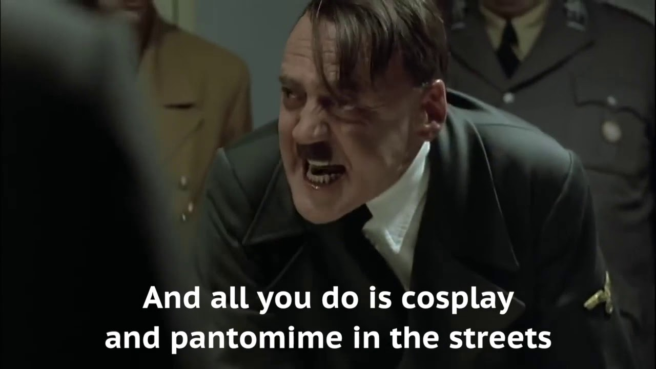 Hitler finds out XR will not be doing a #DebtStrikeForClimate
