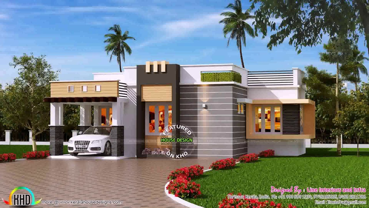 Modern single storey house plans in kerala