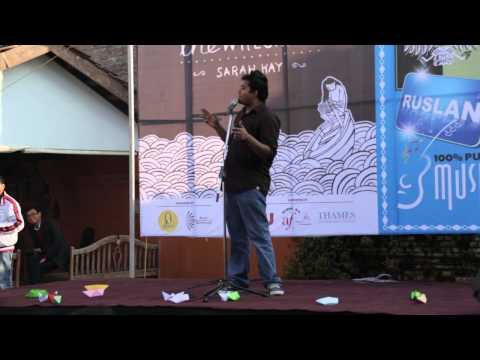 Samip Dhungel Performing His Poem
