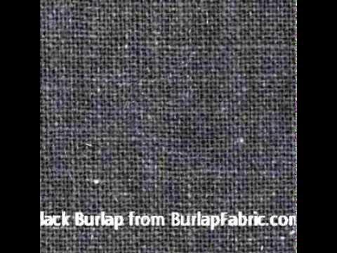 Black Burlap Fabric