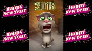HAPPY NEW YEAR FROM TOM FUNNY TALKING TOM