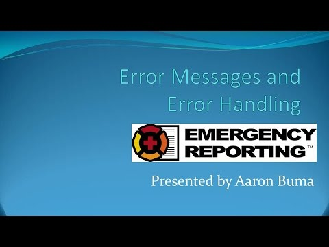 SQL Errors and Error Handling