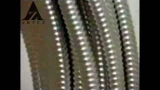 видео Трубы гофрированные из нержавеющей стали и латунные фитинги