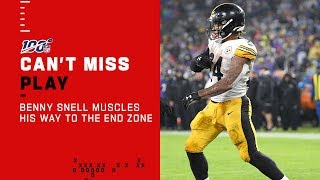 Benny Snell Will NOT Go Down on TD Drive!