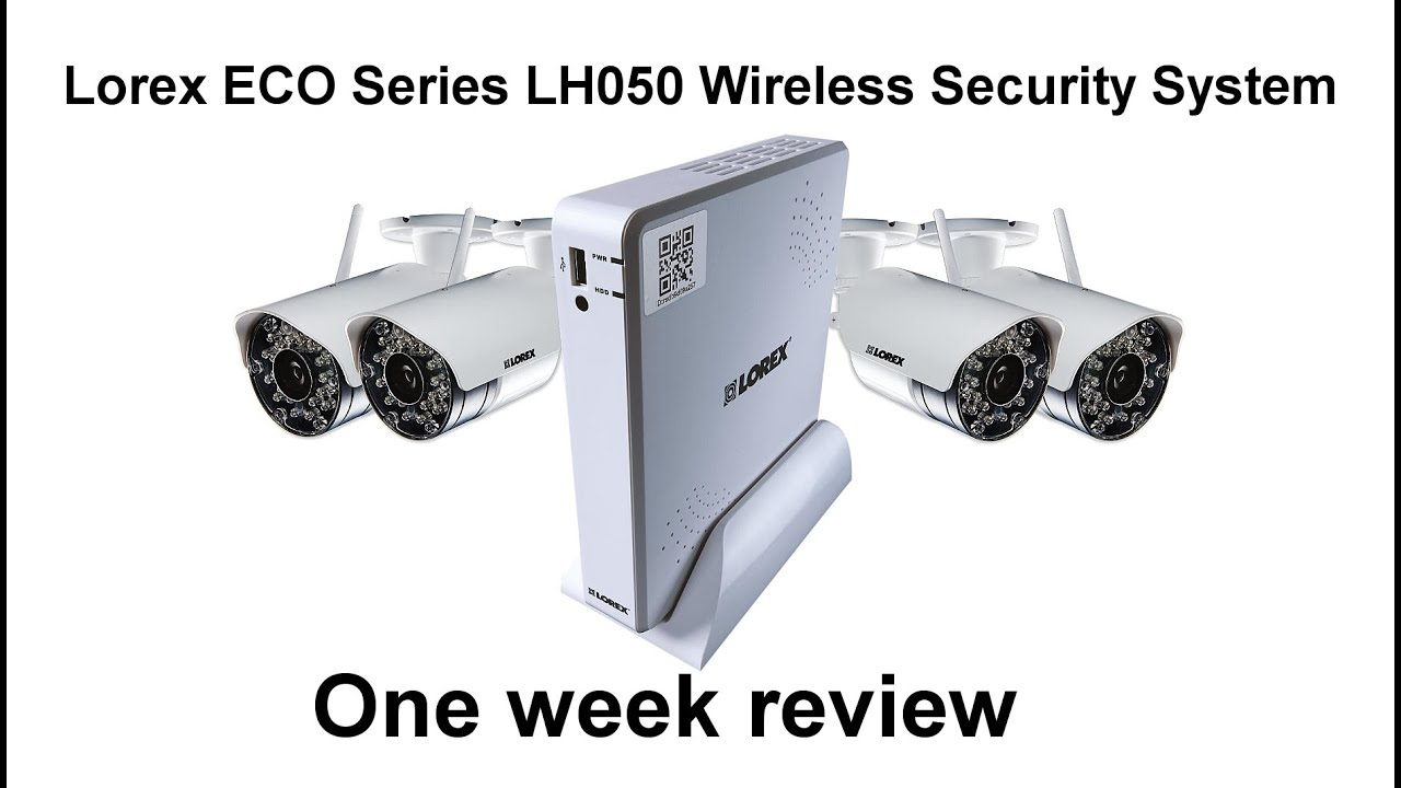 lorex eco series lh050 security camera system review youtube