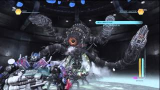 Boss Battle-Optimus Prime Vs Shockwave & Driller!