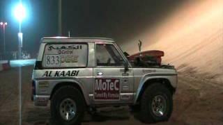 3000bhp nitro V8 Nissan Patrol attacks a massive sand dune!