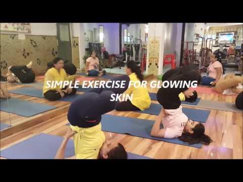 simple exercise for glowing skinindu jain  youtube