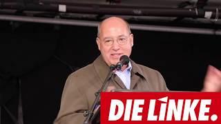 Gregor Gysi spricht auf dem Münchner Marienplatz am 03.10.2018