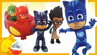 Histoire de Jouets: Les Pyjamasques! Les Super-Héros Yoyo Bibou Gluglu Peppa Pig Touni Toys Titounis