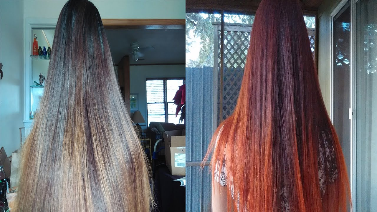 Color Dark Hair To Red Without Bleach With Loreal Hicolor