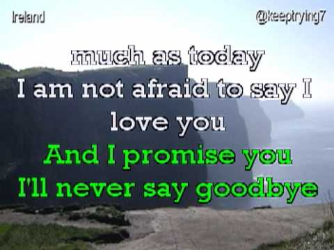 """THE PROMISE"" ( I'll Never Say Goodbye) Video Karaoke @in the style of Martin Nievera"