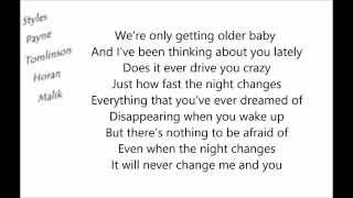 One Direction - Night Changes Lyrics