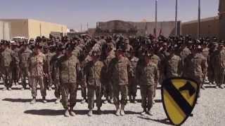 1st Cavalry Division (Forward) Army Football Spirit Video