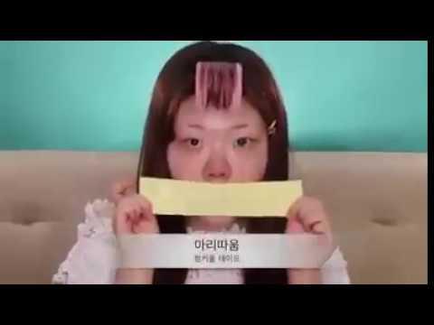 Makyajla Koreli k?z?n inan?lmaz de?i?imi !!  Amazing makeup transformation !!