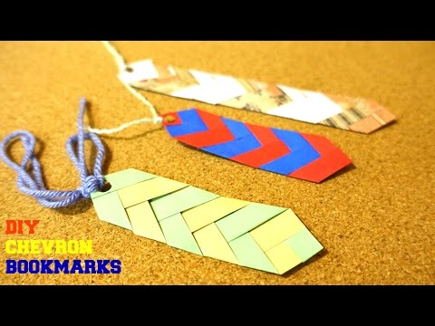 DIY CHEVRON BOOKMARKS