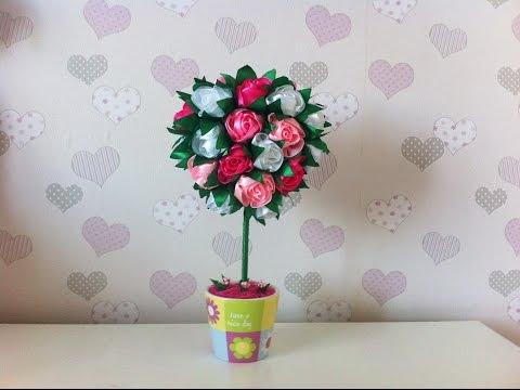 Топиарий из роз / Дерево счастья своими руками