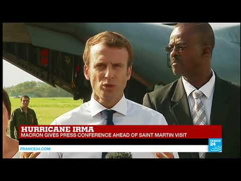 REPLAY - Hurricane Irma: President Macron gives press conference ahead of St-Martin visit