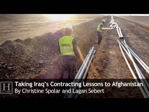 Taking Iraq's Contracting Lessons to Afghanistan