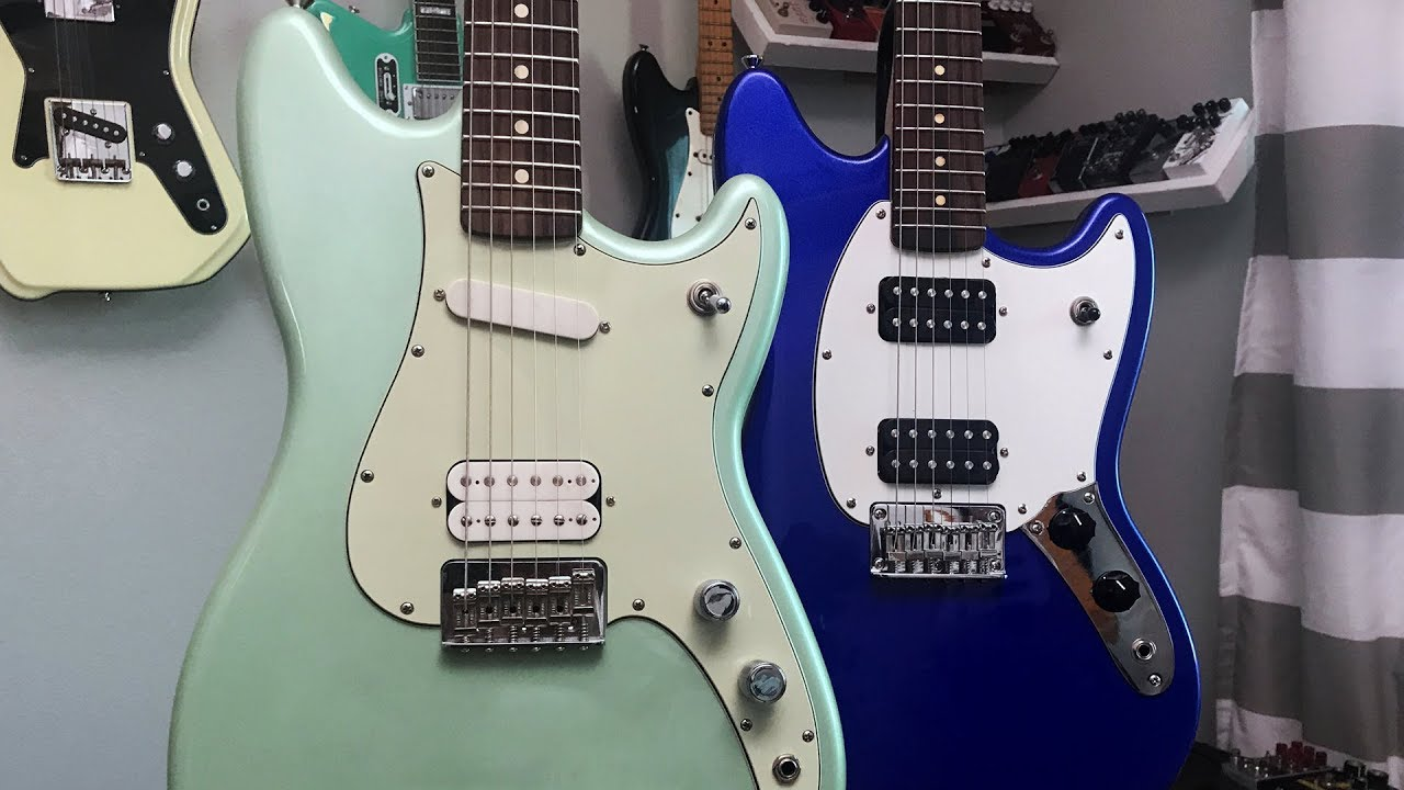 Fender Duo Sonic Hs Vs Squier Bullet Mustang Hh Youtube