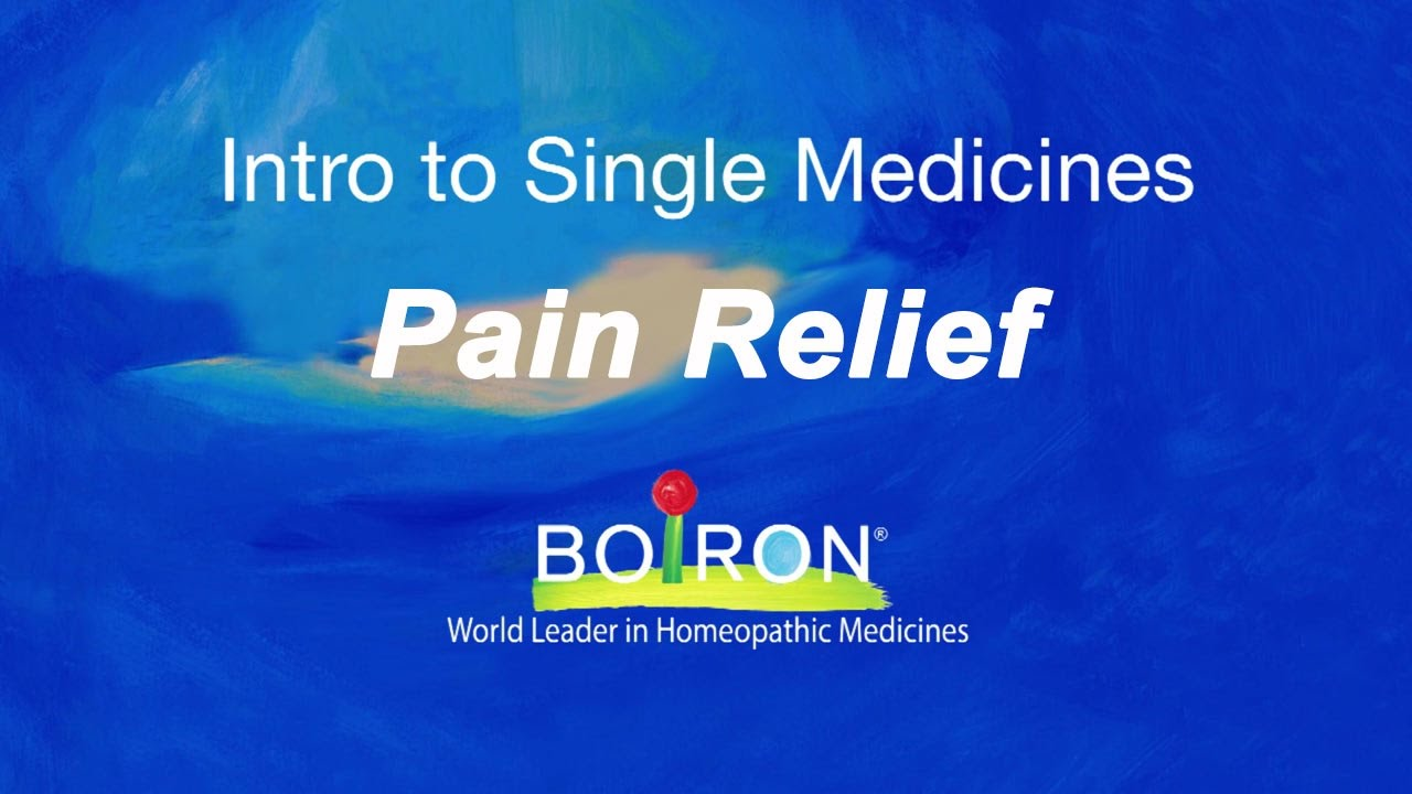 Boiron Single Medicines for Pain Relief