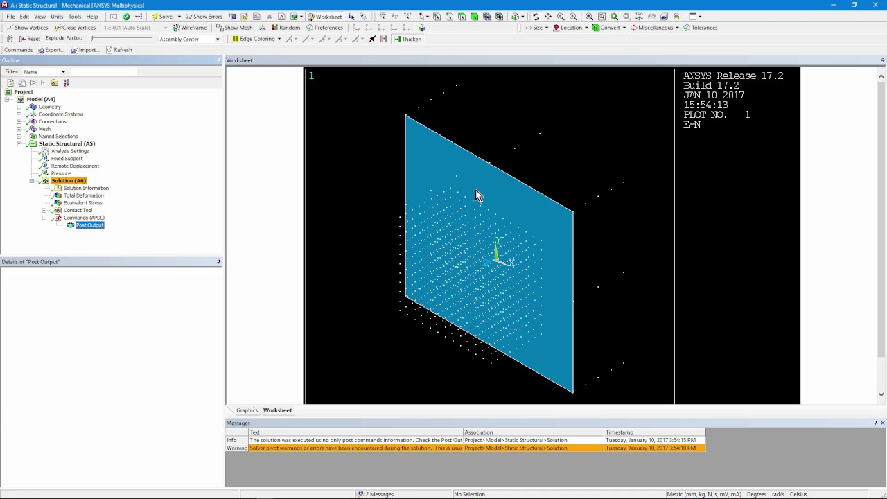 How to Add APDL Post Processing Commands in ANSYS Workbench Mechanical