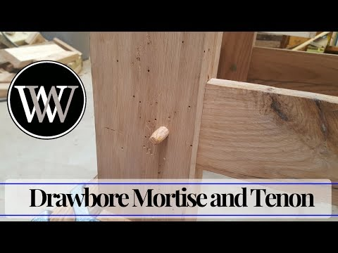 How to Make a Drawbore Mortise and Tenon – Traditional Hand Tool Joinery and Woodworking