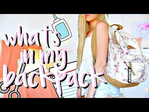 Whats In My Backpack 2018  End of Senior Year
