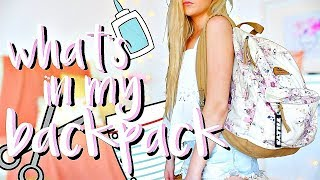 What's In My Backpack 2018 | End of Senior Year