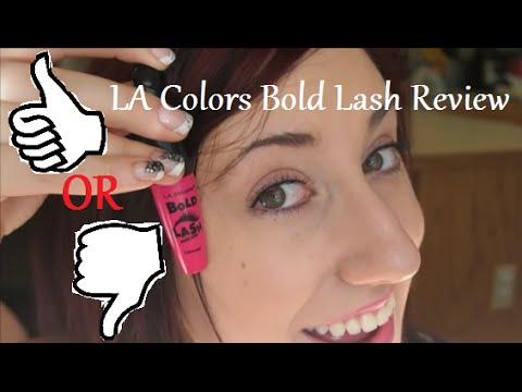 Dollar Tree Review L.A. Colors Bold Lash Mascara - YouTube