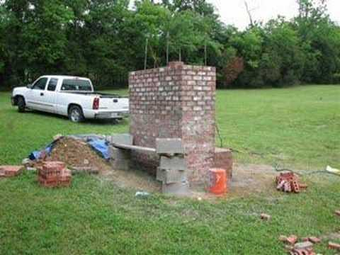 Slideshow Of Masonry Pit Smoker Construction Youtube