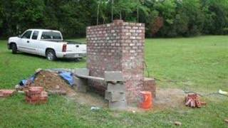 Slideshow Of Masonry Pit-smoker Construction