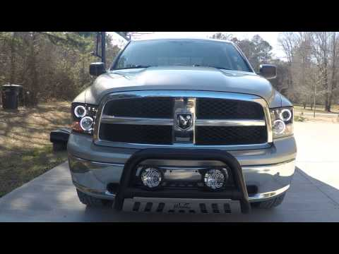 spyder headlights dodge ram 1500 youtube. Black Bedroom Furniture Sets. Home Design Ideas