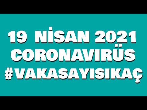 19 Nisan 2021 Güncel Koronavirüs Tablosu | Bugünkü Vaka Sayısı