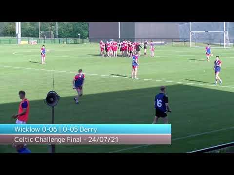 Celtic Challenge Michael Hogan Cup Final 2021 - Derry v Wicklow