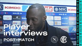 Napoli 1 3 Inter | Lukaku   Lautaro   Barella Exclusive Interviews [sub Eng]