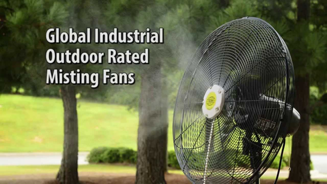 Global Industrial Outdoor Misting Fans   YouTube