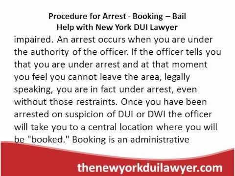 Procedure for Arrest - Booking - Bail Help...