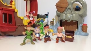 Disney Junior Jake And The Never Land Pirates Skull Island Playset Disney Jake + Peter Pan + Izzy
