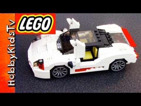 LEGO Car Highway Speedster - Box Open, Build Creator White City Car ...