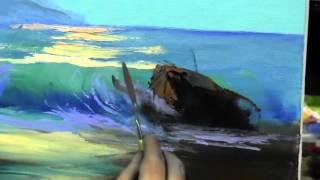 Море маслом научиться рисовать, уроки масляной живописи в Москве и Питере