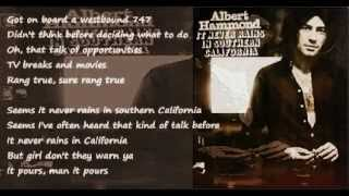 Albert Hammond - It Never Rains In Southern California ( + lyrics 1972)